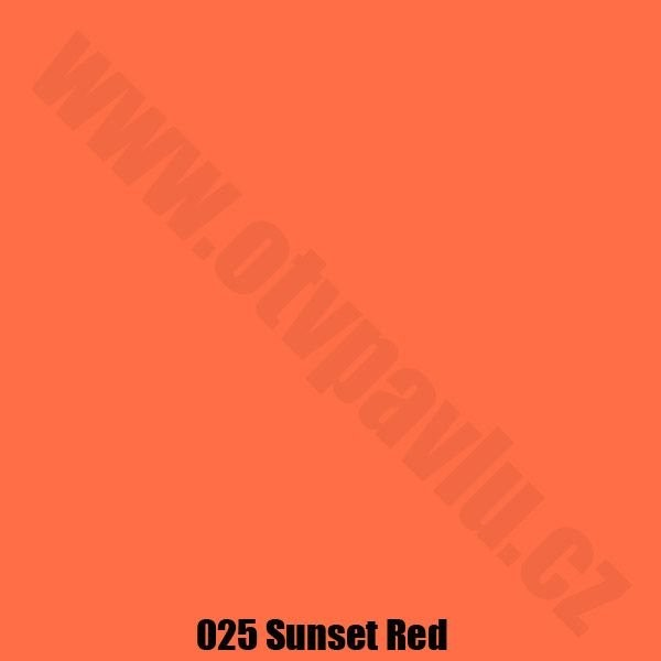 Lee Filters  025 Sunset Red Role
