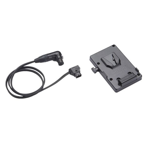 LITEPANELS  Anton Bauer V-Mount Battery Bracket with P-Tap to 3-pin XLR cable