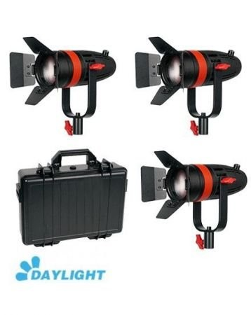 C-TV  C-TV set 3x Boltzen 55w Fresnel Focusable LED Daylight Kit