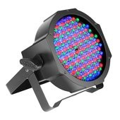 Dr. Fisher  Cameo FLAT PAR CAN RGB 10 - 144 x 10 mm FLAT LED RGB PAR Spot light in black housing with IR-remote