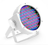 Cameo FLAT PAR CAN RGB 10 - 144 x 10 mm FLAT LED RGB PAR Spot light in white housing with IR-remote