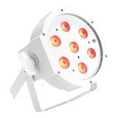 Cameo FLAT PAR CAN TRI 3W IR WH - 7 x 3 W TRI Colour FLAT LED PAR Can RGB in white housing with IR-r