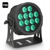 Cameo FLAT PRO 12 IP65 - 12 x 10 W FLAT LED Outdoor RGBWA PAR light in black housing