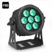 Cameo FLAT PRO 7 IP65 - 7 x 10 W FLAT LED Outdoor RGBWA PAR light in black housing
