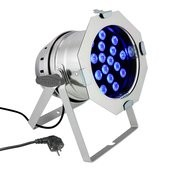 Cameo PAR 64 CAN - 18 x 3 W TRI Colour LED PAR Can RGB in polished housing