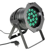 Cameo PAR 64 CAN - 18 x 8W QUAD Colour LED PAR Can RGBW in black housing