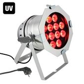 Cameo PAR 64 CAN RGBWA+UV 10 WPS - 12 x 10W 6-in-1 LED RGBAW+UV PAR light in polished housing
