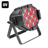 Cameo Studio PAR 64 CAN RGBWA+UV 12 W - 12 x12W QUAD Colour LED RGBWA+UV PAR light in black housing