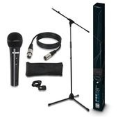 LD Systems MIC SET 1 - Microphone Set with Microphone, Stand, Cable and Clam
