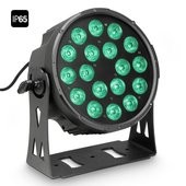 Cameo FLAT PRO 18 IP65 - 18 x 10 W FLAT LED Outdoor RGBWA PAR light in black housing