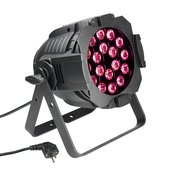 Cameo Studio PAR 64 CAN - 18 x 3 W TRI Colour LED PAR Can RGB in black housing