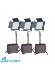 C-TV  High CRI + Free Bag 3 X 900 LED 5600K Video Studio Film Light