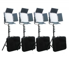 C-TV  High CRI Bi-color 4pcs 900 LED Video Lights Studio Film Lighting